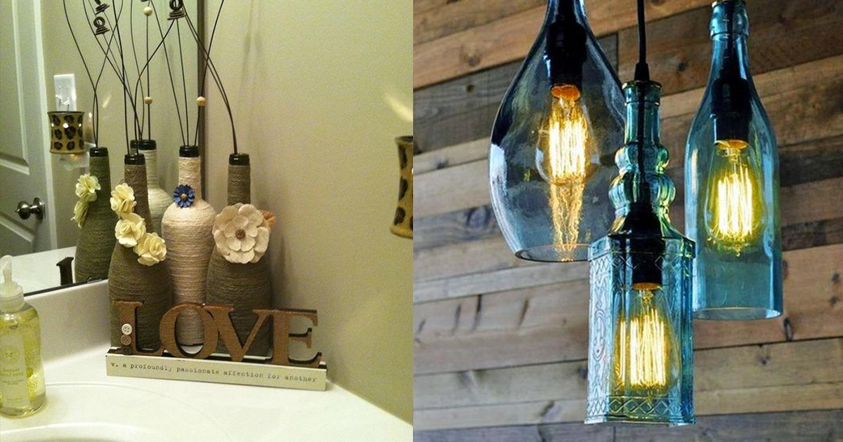 geniale ideen f r weinflaschen als wohnungs deko. Black Bedroom Furniture Sets. Home Design Ideas