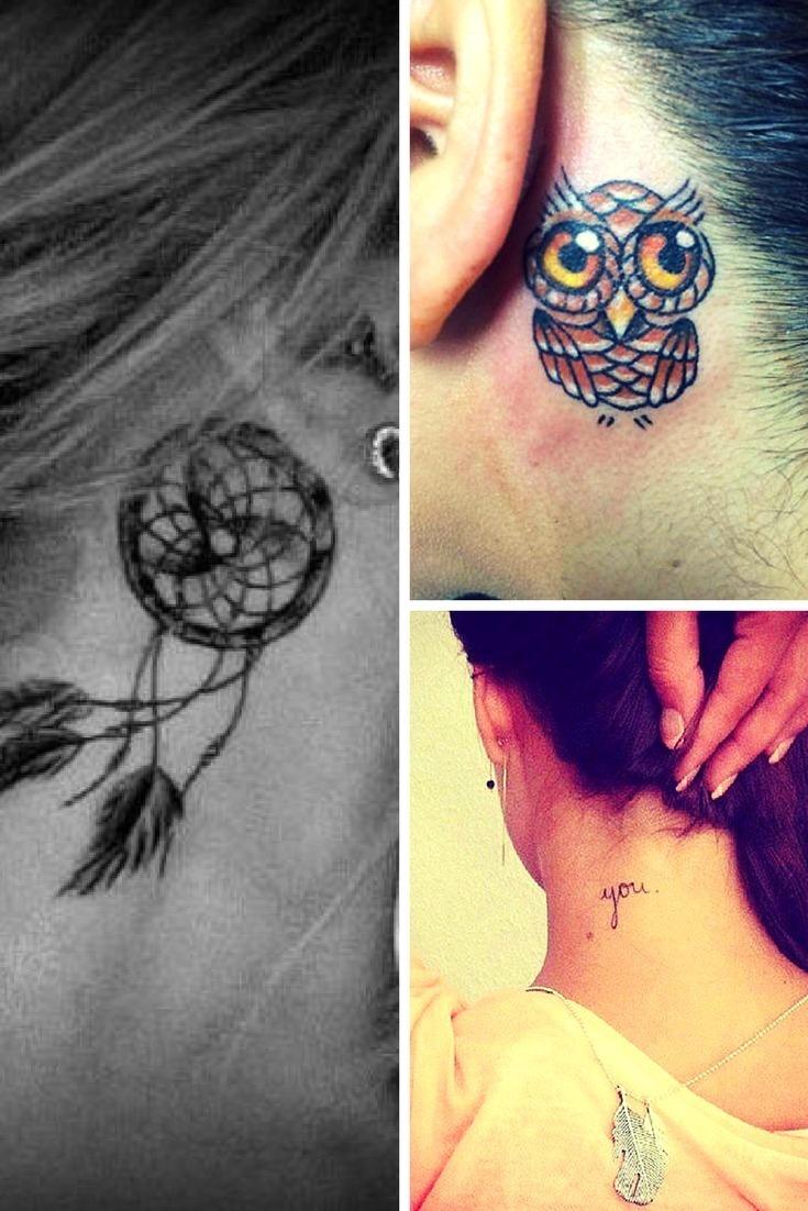 Halstattoo: 20 kleine Tattoo-Ideen für Frauen und Mädchen