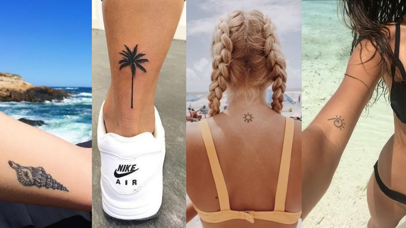 Sonne strand meer tattoo
