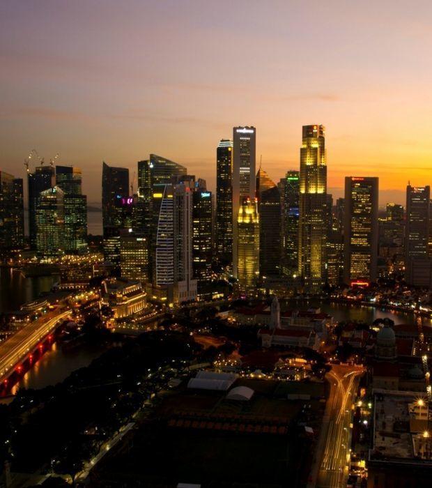 Singapur und seine Wolkenkratzer in Bildern