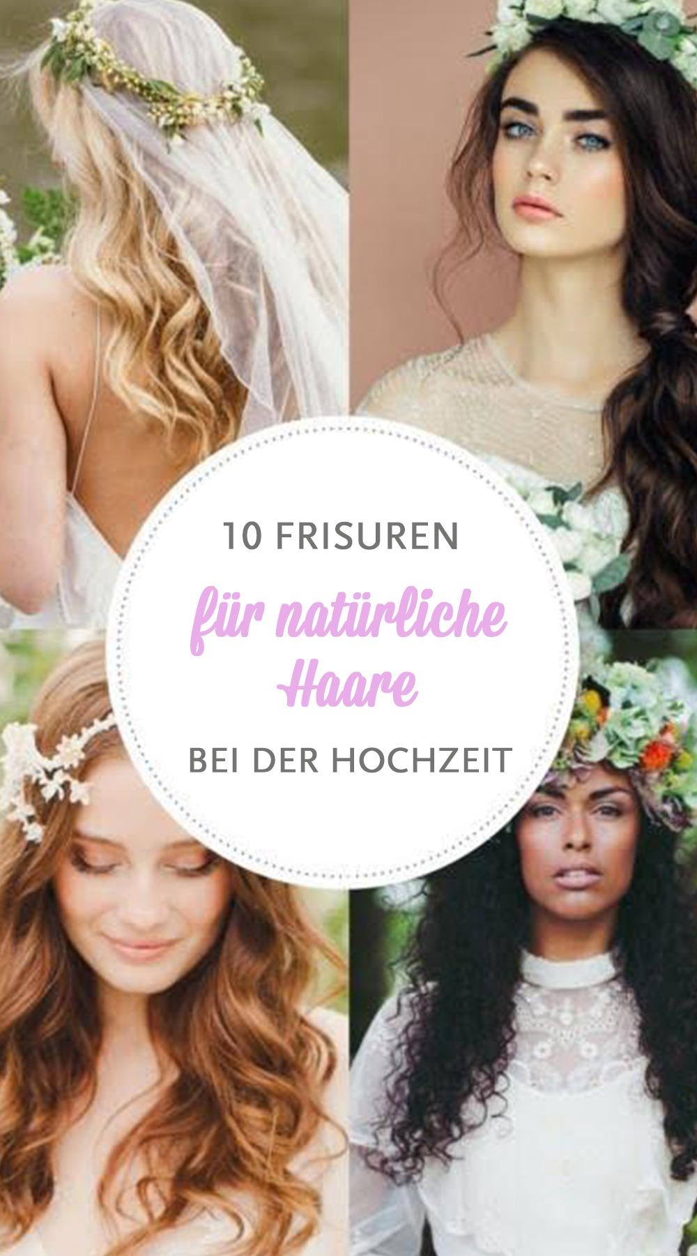 Hochzeitsfrisuren: 10 Ideen für einen natürlichen Look bei der Braut