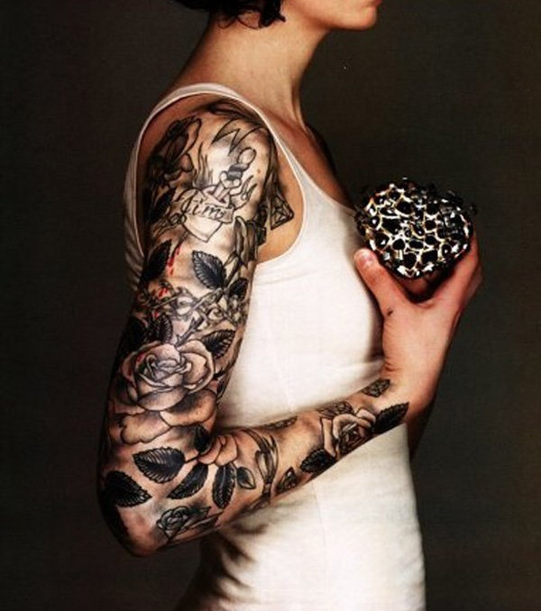 ganz arm tattoo 20 sexy und feminine tattoo ideen f r den arm. Black Bedroom Furniture Sets. Home Design Ideas