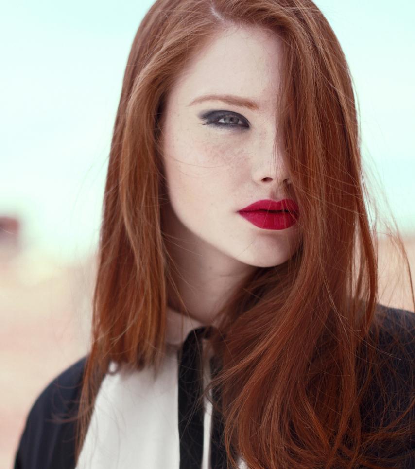 Schöne rote Haare in all ihren Facetten