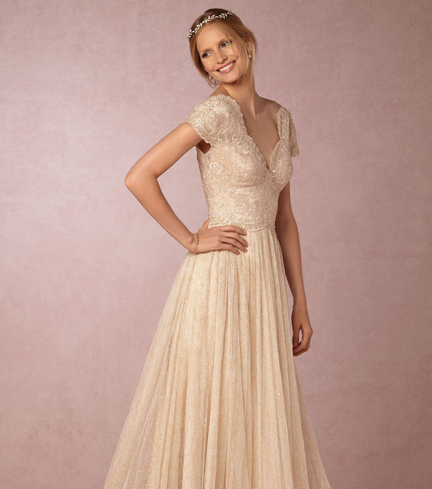 Hochzeitskleider Mit Spitze: Freier Rücken, Vintage