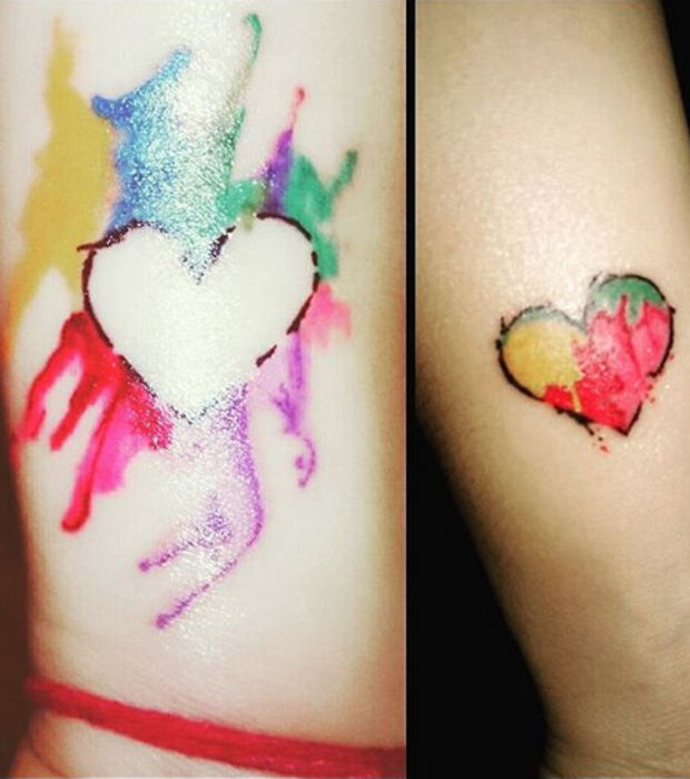25 Paar-Tattoos: von Initialen bis kreativen bildlichen Darstellungen