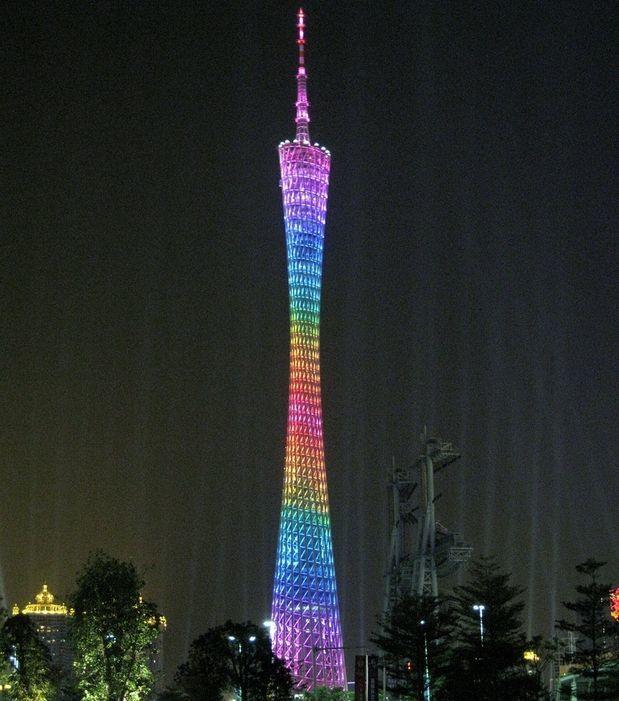 Der schwindelerregende Canton Tower in Guangzhou