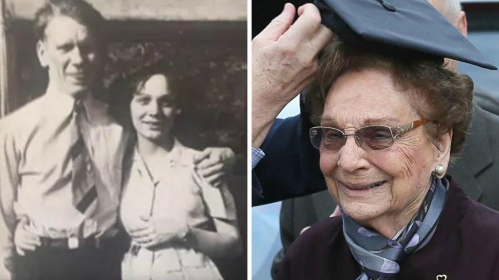 Weil sie verheiratet und schwanger war, wurde sie 1942 von