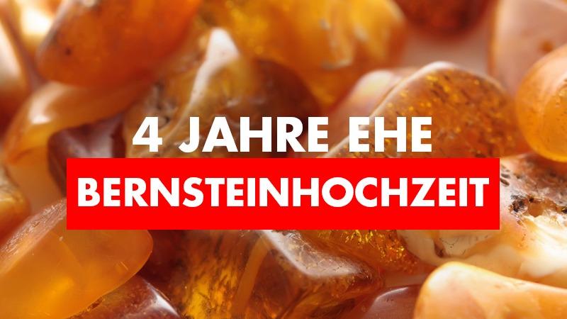 4. Hochzeitstag / Bernsteinhochzeit: Geschenkidee, Feier, Bedeutung