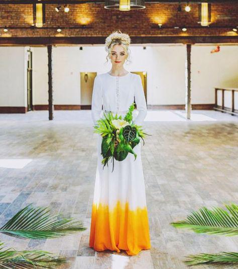 Dip-Dye, Farbverlauf und Co: Hochzeitskleid mal anders
