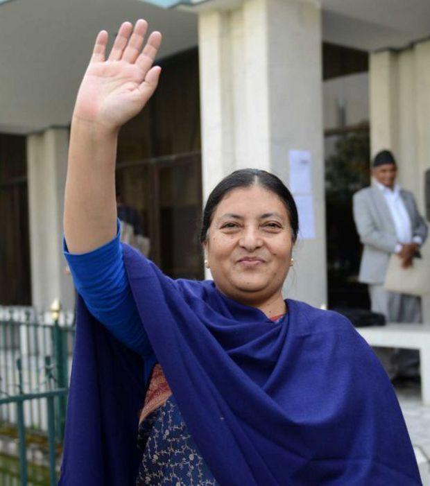 Die nepalesische Präsidentin Bidhya Devi Bhandari