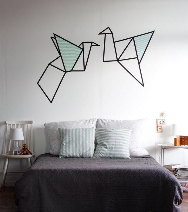 Vögel im Origami-Stil