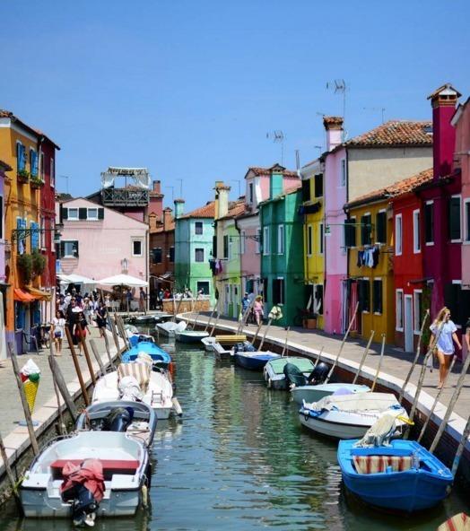 Burano, in Italien