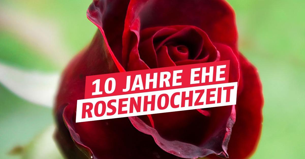 10. Hochzeitstag / Rosenhochzeit: Geschenkidee, Feier