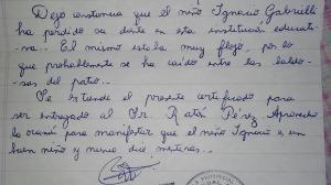Argentinien Seine Lehrerin Schreibt Ihm Ein Attest Um Zu Bezeugen