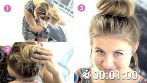 Lernen Sie Mit Halblangen Haaren Einen Dutt Zu Machen