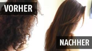 Haare Ohne Hitze Glätten So Funktionierts