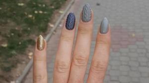 Sweater Nails Der Neue Fingernagel Trend Mit Strickmustern