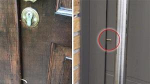 Als sie dieses kleine Teil an ihrer Tür sieht, gibt es nur eine ...
