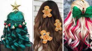 Weihnachtliche Frisuren Wenn Die Haare Zum Christbaum Werden