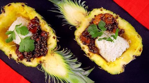 Rezept: Teriyaki-Hähnchen mit Ananas