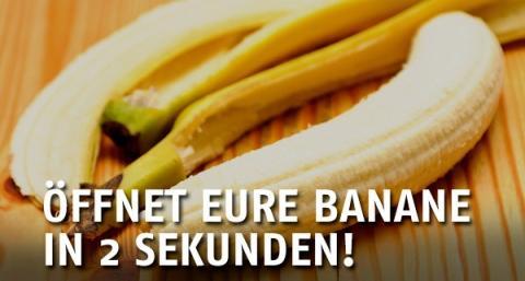 Tipp: So schält man eine Banane richtig