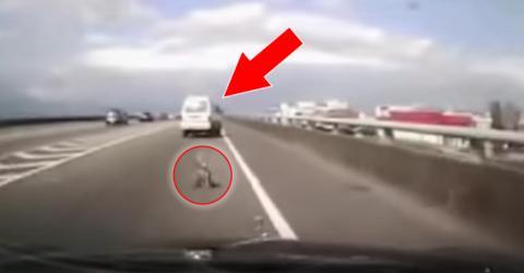 Die einen schmeißen im Auto Müll zum Fenster raus, aber was dieser Mann rausschmeißt, ist unmöglich!