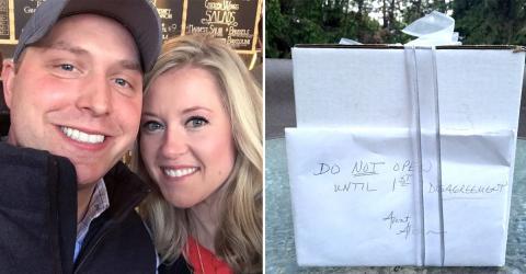 Paar lässt Hochzeitsgeschenk neun Jahre verschlossen: Jetzt lüftet sich sein Geheimnis!