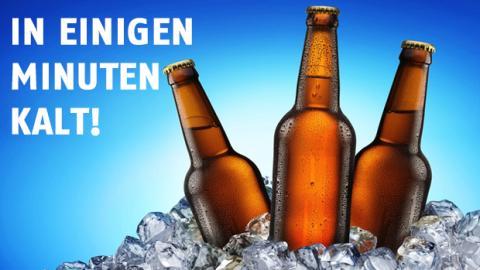 Wie kühlt man schnell ein Bier?