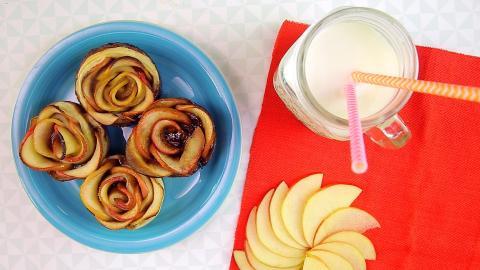 Rezept: Leckere Apfelrosen mit Blätterteig
