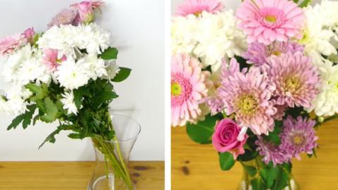 Du liebst Blumen? Dieser Tipp lässt deine Blumensträuße viel schöner aussehen!