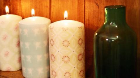 Machen Sie Kerzen mit Blumenmuster in einer Minute!