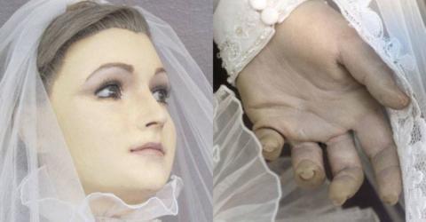Puppe im Ladenfenster: An der Hand lässt sich erkennen, um was es wirklich handelt