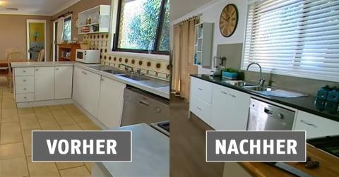 So einfach lässt sich aus einer alten Küche eine neue machen!