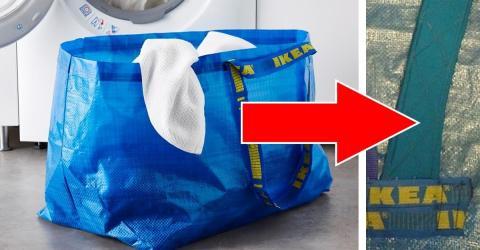 einen rucksack aus einer ikea tasche basteln das geht. Black Bedroom Furniture Sets. Home Design Ideas