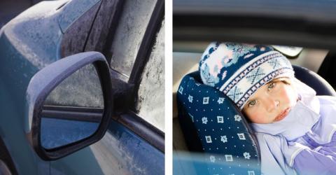 Passanten finden ein Kind im vereisten Auto. Die Ausrede der Eltern macht einfach nur wütend