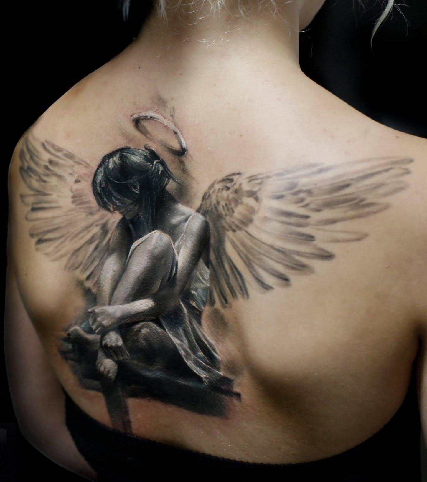 Engelsflügel Tattoo