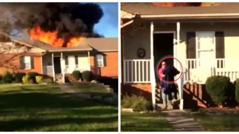 Ein Feuerwehrmann rettet einen Hund aus einem brennenden Haus. Was danach passiert ist unglaublich!