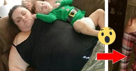 Verrückt! Sie nimmt 108 Kilo ab, doch anstatt sich zu freuen, schreit sie nach Hilfe!