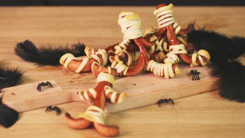 Halloween-Rezept: Tanzende Würstchen-Mumien für die Halloween-Party