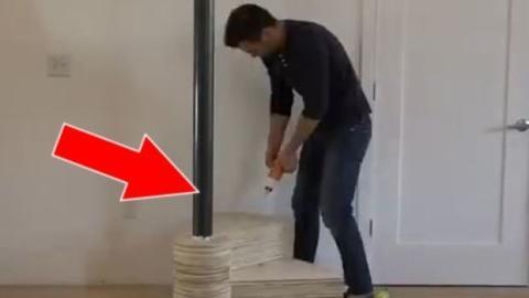 Dieser Mann baut eine außergewöhnliche Treppe!