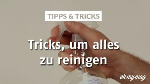 Mit diesen Tricks kannst du alles im Haus reinigen! Der zweite Trick ist einfach verblüffend!