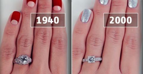 100 Jahre Verlobungsringentwicklung in Bildern