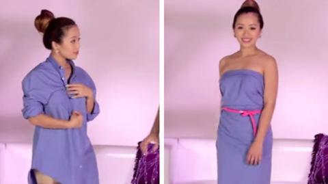 So verwandeln Sie ein Hemd in ein süßes Kleid!