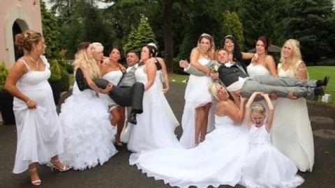 Im Brautkleid ihrer Schwester ab gefickt
