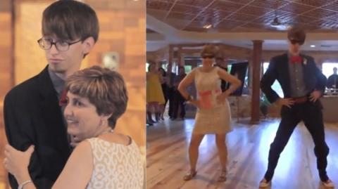 Dieser Bräutigam beginnt die Feier mit einem Tanz mit seiner Mutter... Da geht was ab!