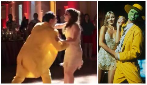 Dieses Paar eröffnet seinen Hochzeitsball mit einer Choreografie des Films DIE MASKE