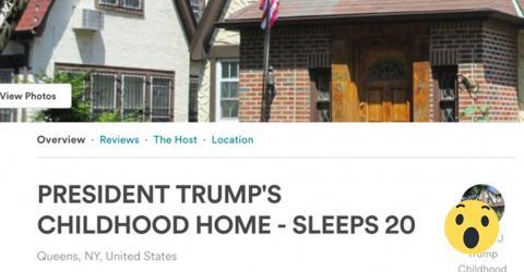 Urlaub in Trumps Elternhaus. Im Wohnzimmer kommt der Schock!