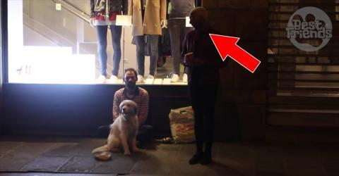 Opernsänger singt für Obdachlosen auf der Straße!