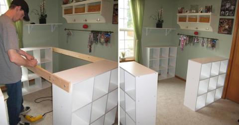 Aus drei einfachen Ikea-Regalen macht er etwas Geniales!
