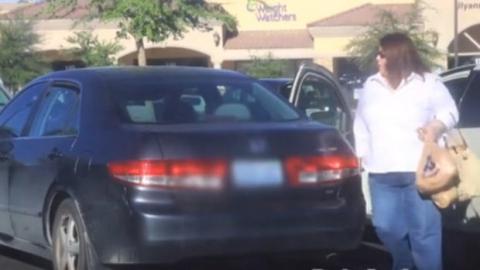 Ein unechtes Baby wird bei brütender Hitze in ein Auto gesperrt, um zu überprüfen, ob die Leute stehen bleiben. Eine alarmierende Feststellung!